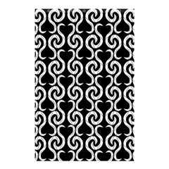 Black and white pattern Shower Curtain 48  x 72  (Small)
