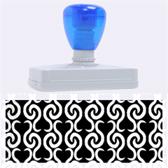 Black and white pattern Rubber Address Stamps (XL)