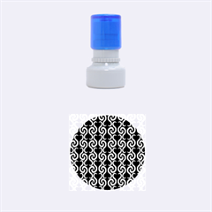 Black and white pattern Rubber Round Stamps (Small)