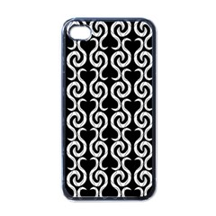 Black and white pattern Apple iPhone 4 Case (Black)