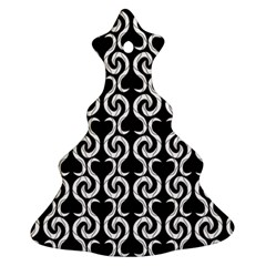 Black and white pattern Christmas Tree Ornament (2 Sides)