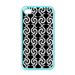 Black and white pattern Apple iPhone 4 Case (Color)
