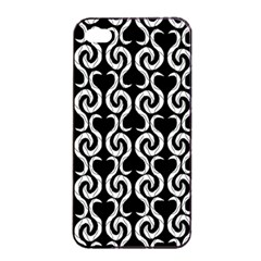 Black and white pattern Apple iPhone 4/4s Seamless Case (Black)