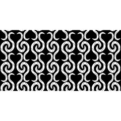 Black and white pattern YOU ARE INVITED 3D Greeting Card (8x4)