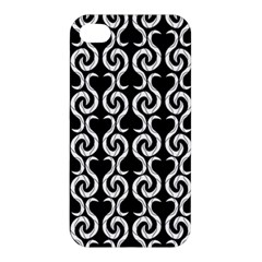 Black and white pattern Apple iPhone 4/4S Hardshell Case