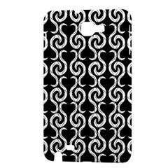 Black and white pattern Samsung Galaxy Note 1 Hardshell Case