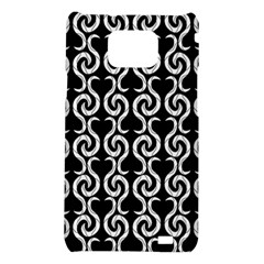 Black and white pattern Samsung Galaxy S2 i9100 Hardshell Case