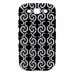 Black and white pattern Samsung Galaxy S III Hardshell Case