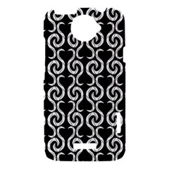 Black and white pattern HTC One X Hardshell Case