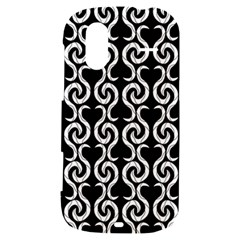 Black and white pattern HTC Amaze 4G Hardshell Case