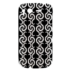 Black and white pattern HTC Desire S Hardshell Case