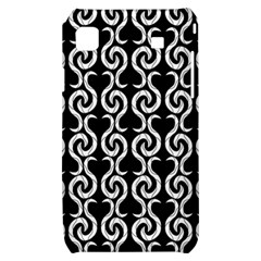 Black and white pattern Samsung Galaxy S i9000 Hardshell Case
