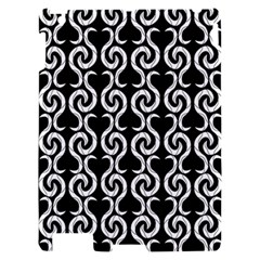 Black and white pattern Apple iPad 2 Hardshell Case