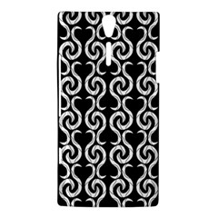Black and white pattern Sony Xperia S