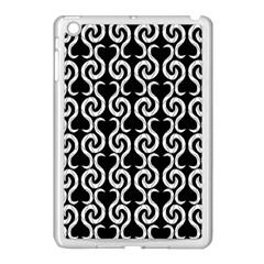 Black and white pattern Apple iPad Mini Case (White)