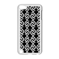 Black and white pattern Apple iPod Touch 5 Case (White)