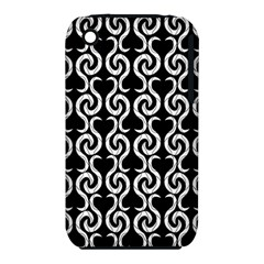 Black and white pattern Apple iPhone 3G/3GS Hardshell Case (PC+Silicone)