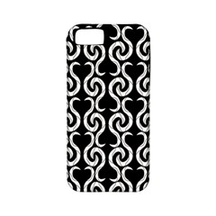Black and white pattern Apple iPhone 5 Classic Hardshell Case (PC+Silicone)