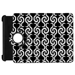 Black and white pattern Kindle Fire HD Flip 360 Case