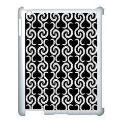 Black and white pattern Apple iPad 3/4 Case (White)