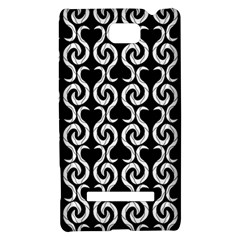 Black and white pattern HTC 8S Hardshell Case
