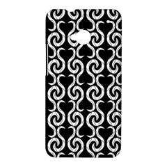 Black and white pattern HTC One M7 Hardshell Case