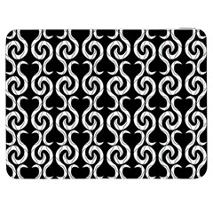 Black and white pattern Samsung Galaxy Tab 7  P1000 Flip Case