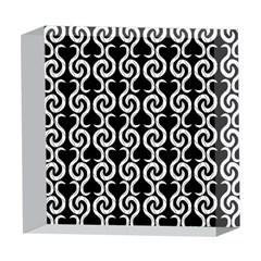 Black and white pattern 5  x 5  Acrylic Photo Blocks