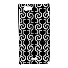 Black and white pattern Sony Xperia J