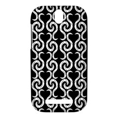 Black and white pattern HTC One SV Hardshell Case