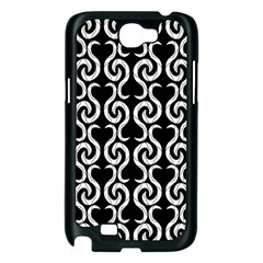 Black and white pattern Samsung Galaxy Note 2 Case (Black)