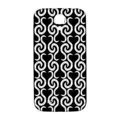 Black and white pattern Samsung Galaxy S4 I9500/I9505  Hardshell Back Case