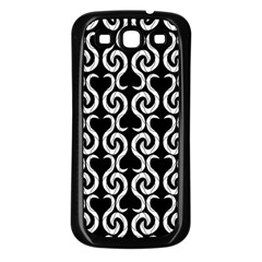 Black and white pattern Samsung Galaxy S3 Back Case (Black)