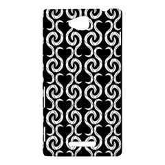 Black and white pattern Sony Xperia C (S39H)