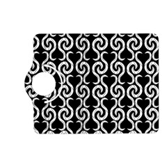 Black and white pattern Kindle Fire HD (2013) Flip 360 Case