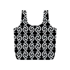 Black and white pattern Full Print Recycle Bags (S)