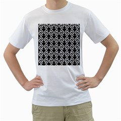 Black and white pattern Men s T-Shirt (White)