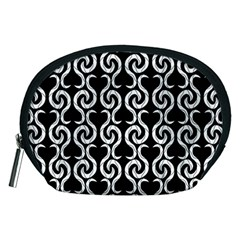 Black and white pattern Accessory Pouches (Medium)