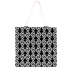 Black and white pattern Grocery Light Tote Bag
