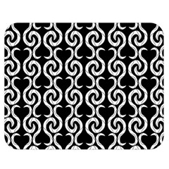 Black and white pattern Double Sided Flano Blanket (Medium)