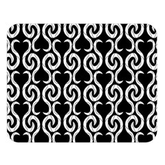 Black and white pattern Double Sided Flano Blanket (Large)