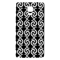 Black and white pattern Galaxy Note 4 Back Case