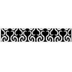 Black and white pattern Flano Scarf (Large)