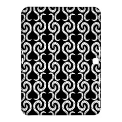 Black and white pattern Samsung Galaxy Tab 4 (10.1 ) Hardshell Case