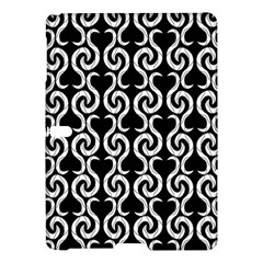 Black and white pattern Samsung Galaxy Tab S (10.5 ) Hardshell Case