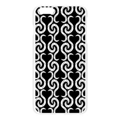 Black and white pattern Apple Seamless iPhone 6 Plus/6S Plus Case (Transparent)