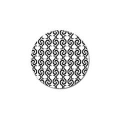 White and black elegant pattern Golf Ball Marker (10 pack)