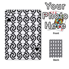 White and black elegant pattern Playing Cards 54 Designs