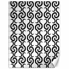 White and black elegant pattern Canvas 12  x 16