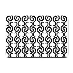 White and black elegant pattern Small Doormat